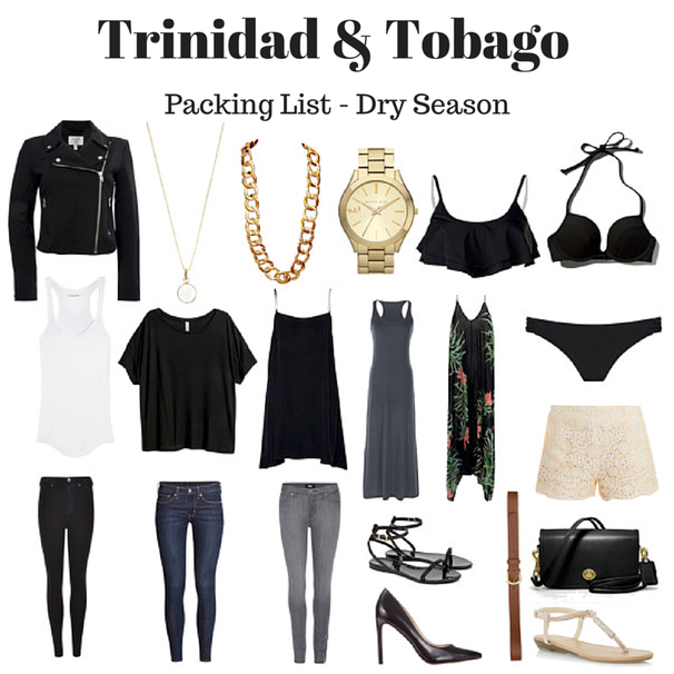 Images of clothing to pack when in Trinidad & Tobago in May